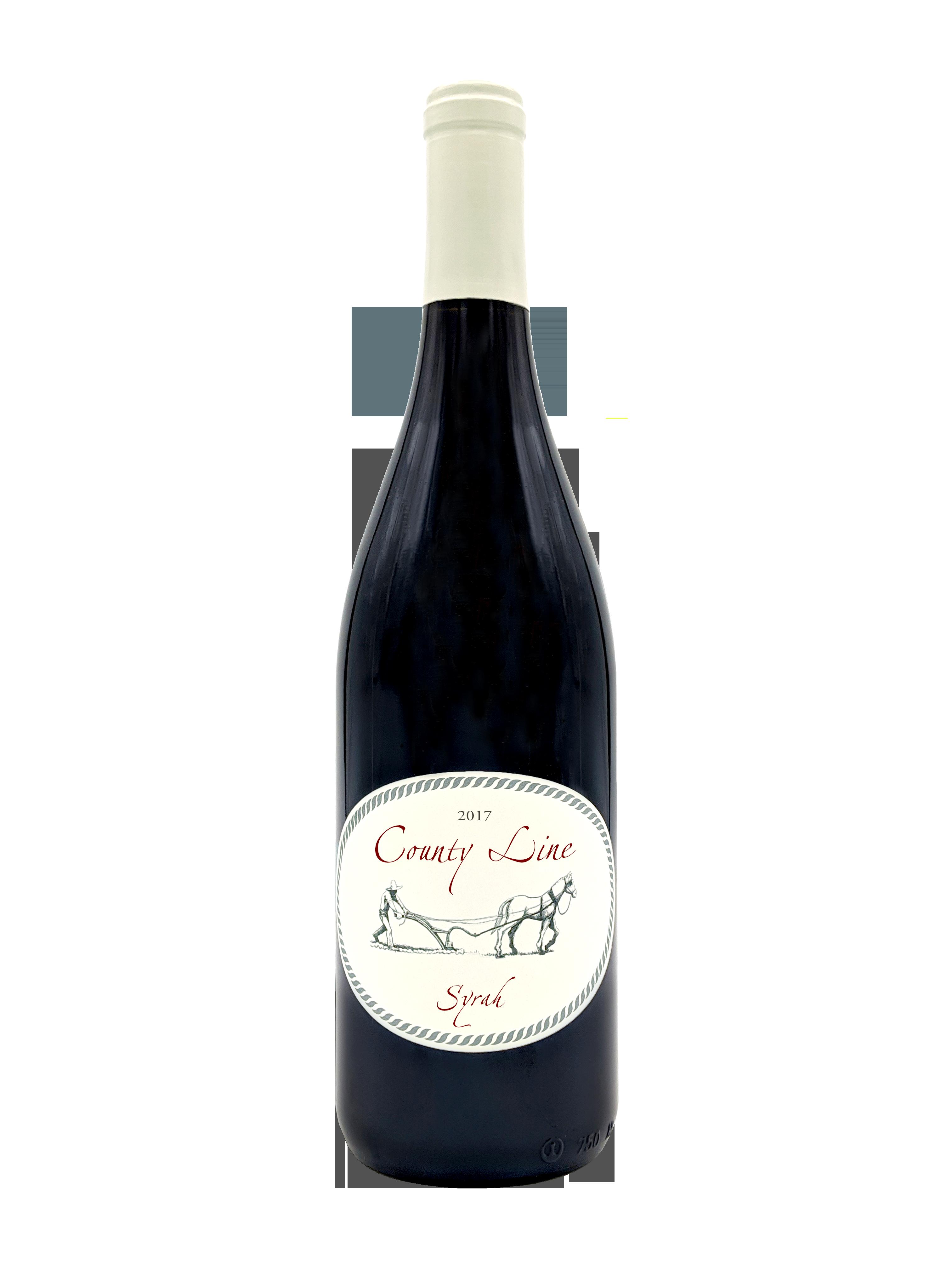 county line 2017 syrah bottle