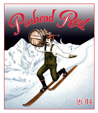 pinhead red wine label