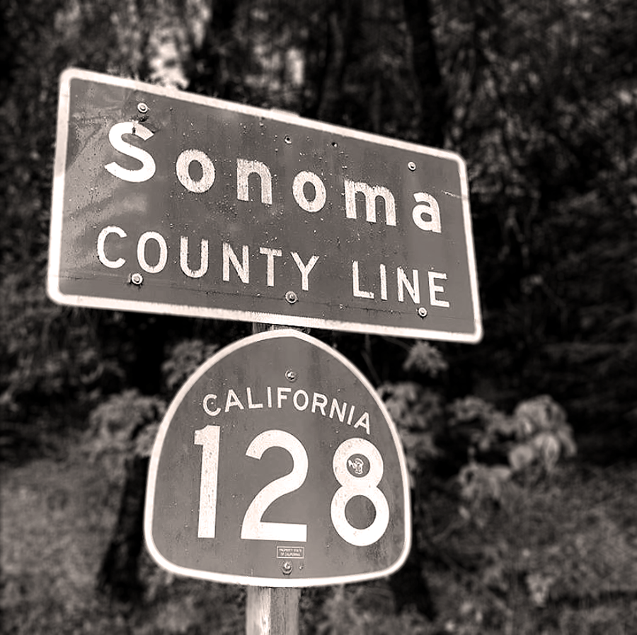 sonoma county line sign